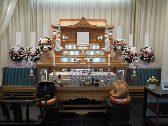 浦安市斎場白木祭壇